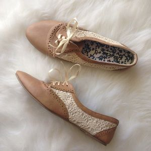 Charlotte Russe Shoes - Brand New Crochet Oxford Slipons