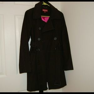 Black cloth trench coat