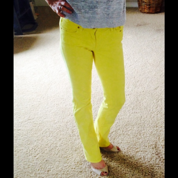 75% off j crew Denim - J Crew Yellow bootcut jeans from Anna's ...