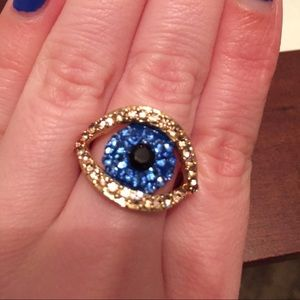 Jewelry - Gold evil eye ring size 9