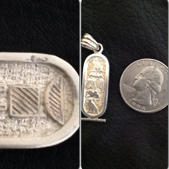 Egyptian Cartouche Necklace: Egyptian Sterling Cartouche Pendant From Jodi's