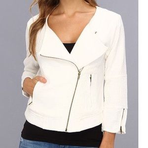Sanctuary Jackets & Blazers - Sanctuary 3/4 Sleeve Soft Moto Jacket