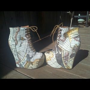 Jeffrey Campbell Charted Map Damsel 8.5 New Rare