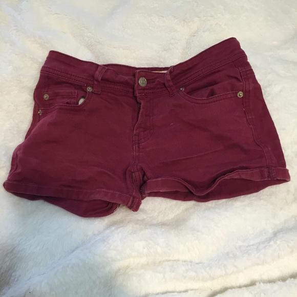33% off Cotton On Denim - Maroon denim shorts from Kayley's closet ...