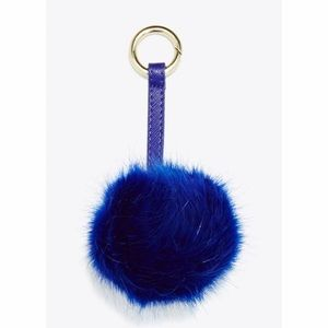a549c8af612a Accessories - Cobalt Blue Fur Ball Purse Keychain