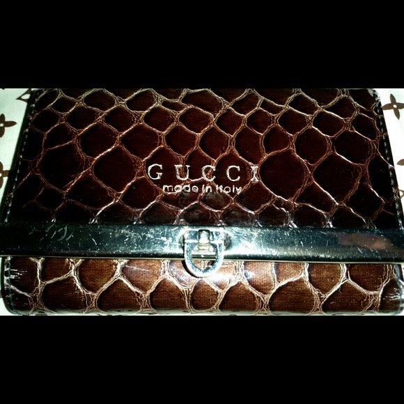 6d6ecd719ee2 Gucci Clutches & Wallets - Alligator skin brown Gucci small wallet