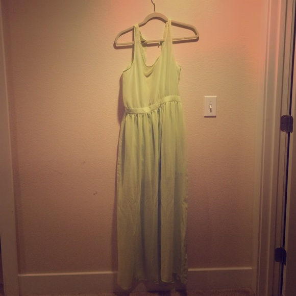 Lime green maxi dress forever 21