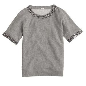 J. Crew Sweaters - RETAIL Jeweled Short Sleeve Sweatshirt