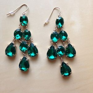 Jewelry - Emerald chandelier earrings