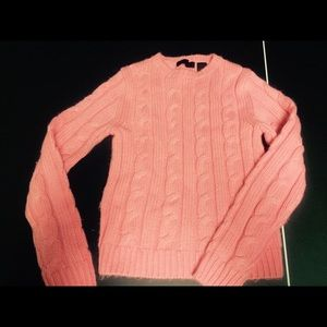 Pink cable-knit sweater!