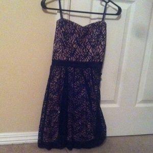 Formal Peach and Black Dress
