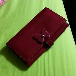 !Authentic Raspberry Furla wallet