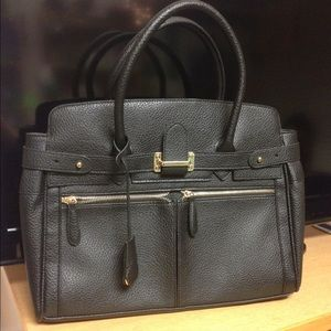 Just Fab - Black leather tote bag