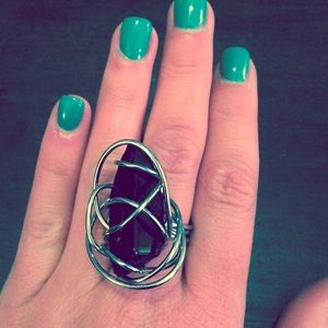 Accessories - Onyx and silver ring