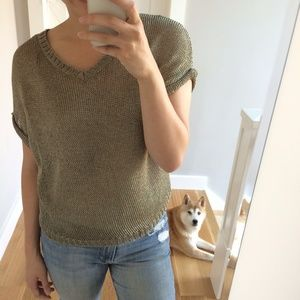 Vince Sweaters - Vince gold knit top