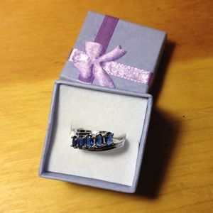 Jewelry - Sapphire White Gold filled ring