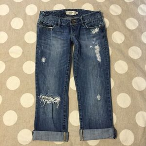 Abercrombie & Fitch distressed cuffed jeans