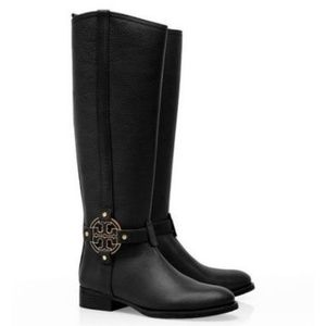 Tory Burch Amanda riding boot in black size 6.5