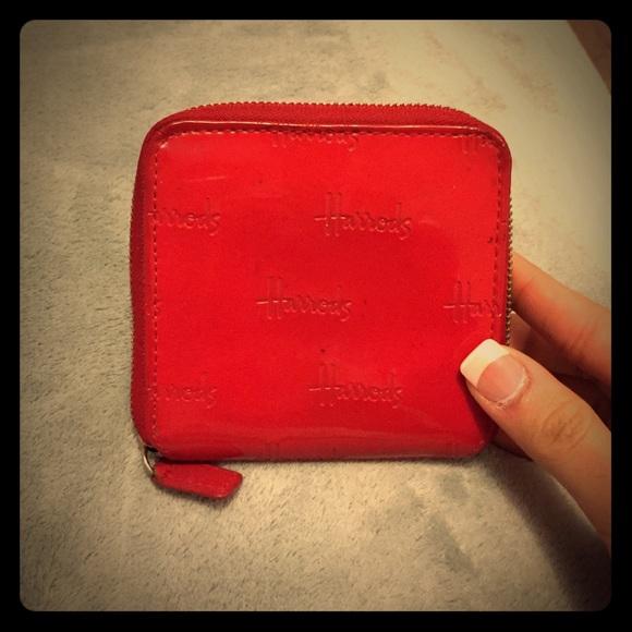 7408beb291 Harrods wallet RED!!!