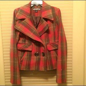 Red & Green Plaid Coat