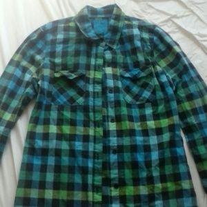 Blue/green flannel shirt