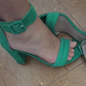 Zara green shoes