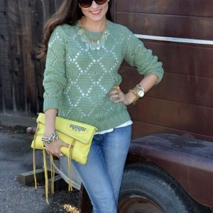 Forever 21 Sweaters - Mint Crochet Sweater