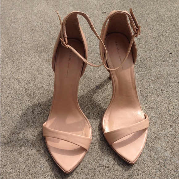 64% off Zara Shoes - Zara Nude Strappy Heels Spring Fav Size 9 ...