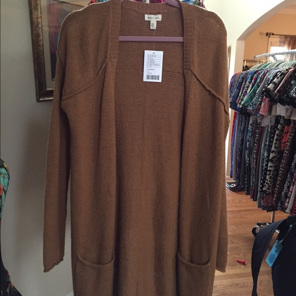 50% off silence   noise Sweaters - Brown Silence   Noise Duster ...