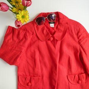 SUPER SALE J.Crew red linen jacket