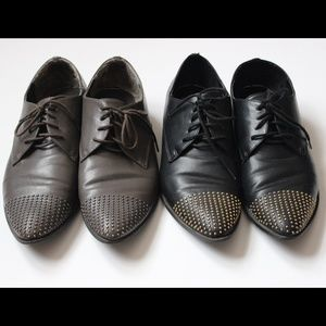 Dolce Vita Black & Grey Studded Oxfords Bundle