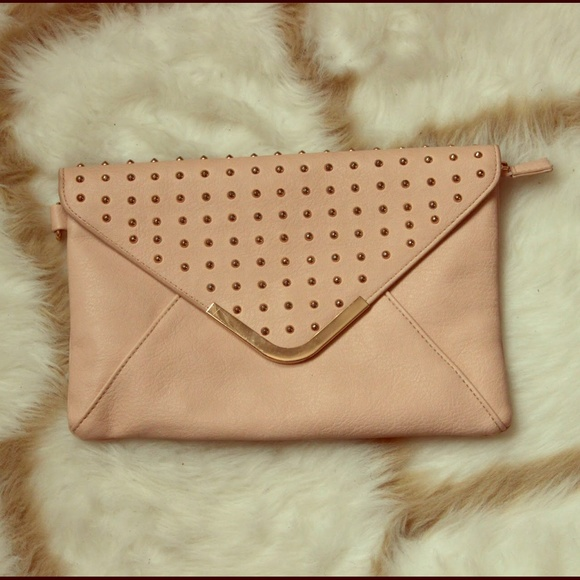 ALDO Clutches & Wallets - ALDO Pink Studded Clutch
