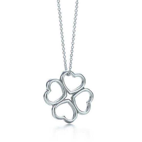 1876b15d9 Tiffany & Co. Jewelry | Tiffany Co Heart Clover Pendant | Poshmark
