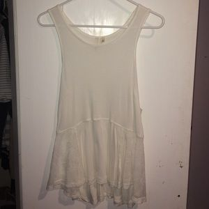 Nortsrom's Frenchi white with lace cut outs top
