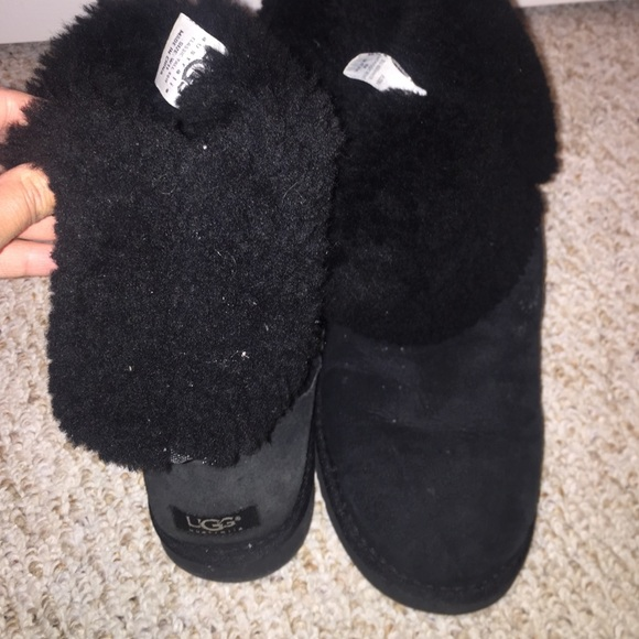 ugg shoes authentic classic tall 5815 black fur boots poshmark rh poshmark com