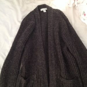 chunky knit oversized cardigan