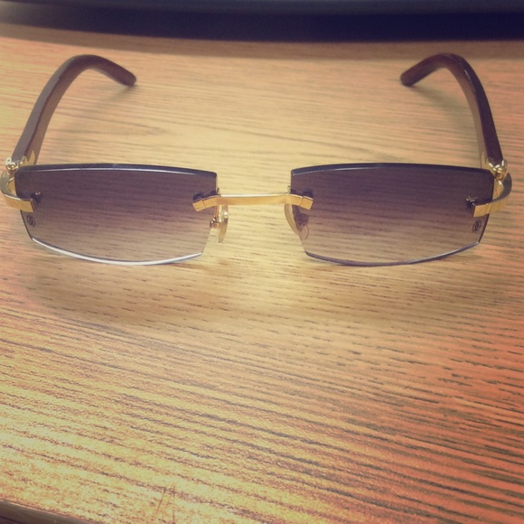 Cartier Accessories | Authentic Rimless Frame 140 B Bubinga Wood ...