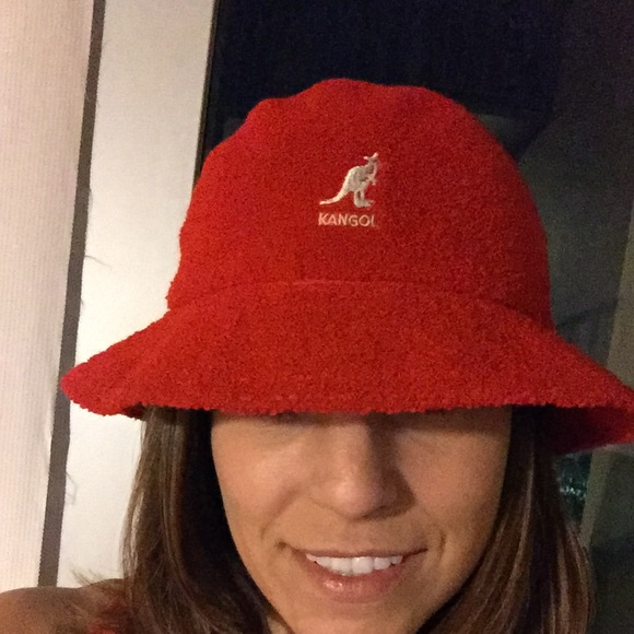 Kangol Accessories - Red Kangol Terry Bucket Hat Size Large b4d24992cb3