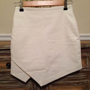 Choie's White Asymmetrical High Waist Skirt