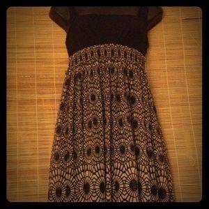 LONDON TIMES/ Khaki&Black Dress