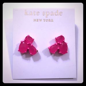 NEW kate spade Fluorescent Pink Cluster Earrings!
