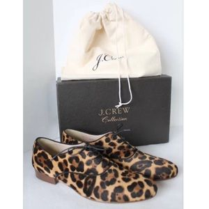 J. Crew Shoes - SOLD J.Crew Collection Calf Hair Leopard Oxfords 8