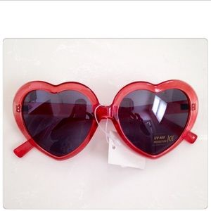 Red Heart Shaped Sunglasses