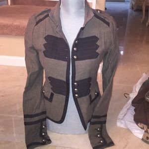 D.E.P.T Military Blazer Taupe with black Pattern
