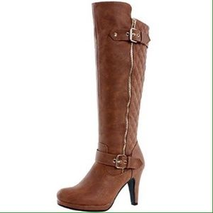 West Blvd Boston Quilted Riding Ladies Boots