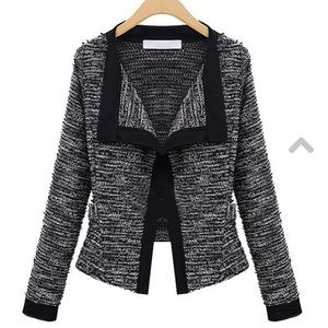 Black & White Open Jacket