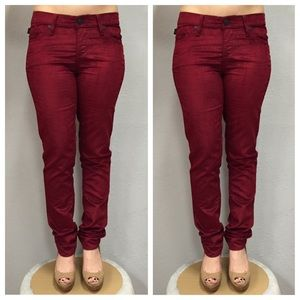 ROCK & REPUBLIC Red Maroon Pants