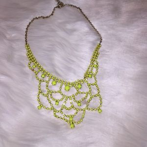 Neon yellow classy necklace