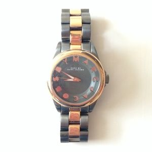 Marc by Marc Jacobs Rose Gold and gunmetal Watch!