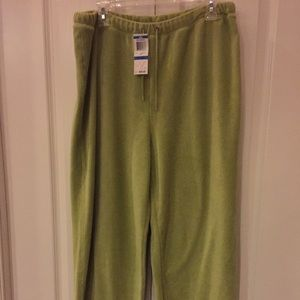 Charter Collection XL Velour Stretch pants NWT